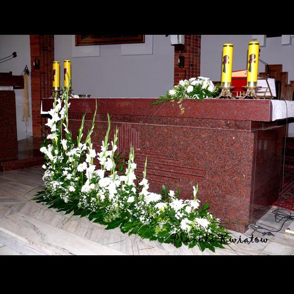 Dekoracja Kościoła Planeta Kwiatów Kwiaciarnia Gniezno